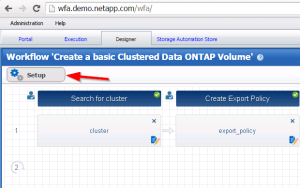 View WFA workflow setup